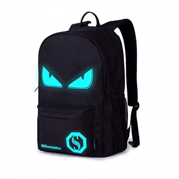BSTcentelha Anime Borsa a tracolla luminosa leggera con scomparti per laptop per studenti Ragazzi Boy Girl Book Laptop Travel Camping (Grande) - 1