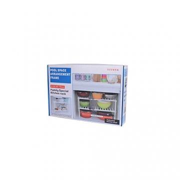 BUONDAC 40-65 * 37 * 26cm Mensola Sottolavello Scaffale Stoviglie Lavandino Cucina Regolabile Modulabile Salvaspazio 2 Ripiani Bagno Modulabile + 8 pz Gancio a S Acciaio Inox - 7