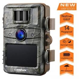 Campark Fotocamera da Caccia 14MP 1080P Fototrappola da Caccia Infrarossi Invisibili 44pcs IR LEDs Visione Notturna Fino a 20m Impermeabile IP66 Macchina Fotografica da Caccia - 1