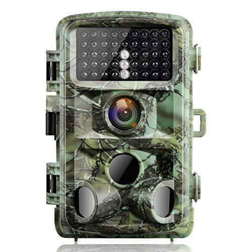 """Campark Fotocamera da Caccia 14MP 1080P Fototrappola Infrarossi Movimento Attivato 0.3S Scouting Camera con Visione Notturna 2,4"""" LCD della Gamma 120°Detecting IR LED IP56 Impermeabile - 1"""
