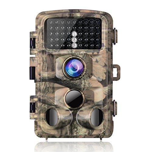 """Campark Fotocamera da Caccia, 14MP 1080P Impermeabile Fototrappola Infrarossi Movimento Attivato 0.3S Scouting Camera con Visione Notturna 2,4"""" LCD della Gamma 120°Detecting IR LED - 1"""