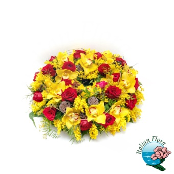 Centrotavola di fiori misti di stagione - Consegna in Italia.