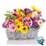 Cestino di fiori di campo colorati - Consegna in Italia.