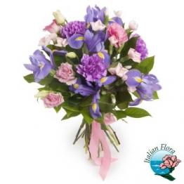 Composizione fiori viola - Consegna in Italia.