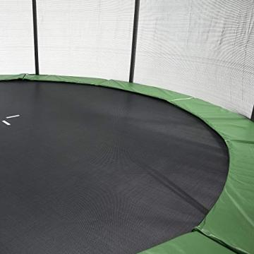 CZON SPORTS trampolino, 250 cm tappeto elastico con rete di sicurezza, verde|trampolino elastico da giardino|trampolino bambini - 2