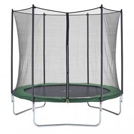 CZON SPORTS trampolino, 250 cm tappeto elastico con rete di sicurezza, verde|trampolino elastico da giardino|trampolino bambini - 1