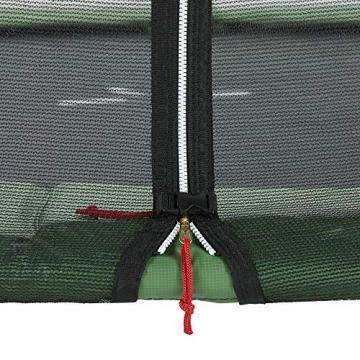 CZON SPORTS trampolino, 250 cm tappeto elastico con rete di sicurezza, verde|trampolino elastico da giardino|trampolino bambini - 4