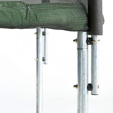 CZON SPORTS trampolino, 250 cm tappeto elastico con rete di sicurezza, verde|trampolino elastico da giardino|trampolino bambini - 5
