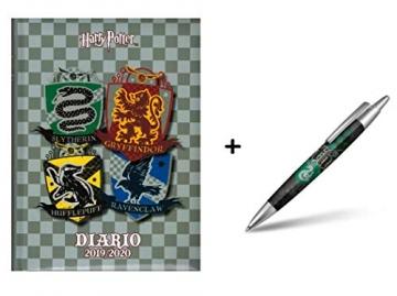 Diario scuola Harry Potter Gryffindor 2019 - 2020 Grigio 18x14cm + Omaggio Penna a Sfera Harry Potter - 1