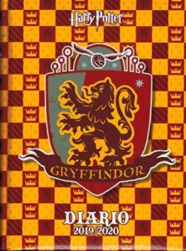 Diario scuola Harry Potter Gryffindor 2019 / 2020 Standard + Omaggio portachiave Fischietto + Omaggio Penna glitterara - 1