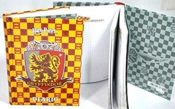 Diario scuola Harry Potter Gryffindor Standard 2019 - 2020 Giallo Rosso 18x14cm + Omaggio Penna a Sfera Harry Potter - 3