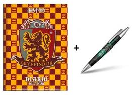 Diario scuola Harry Potter Gryffindor Standard 2019 - 2020 Giallo Rosso 18x14cm + Omaggio Penna a Sfera Harry Potter - 1