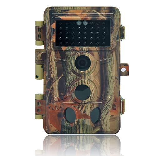 DIGITNOW Fotocamera da Caccia 16MP 1080P HD Impermeabile, 120°Ampia visuale Fototrappola Infrarossi Invisibili 40 IR LED, Macchine fotografiche da caccia Visione Notturna fino a 20m - 1