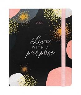 Erik® - Agenda Premium con Planner Settimanale 2019/2020, 17 mesi, 16,5x20 cm - Glitter Gold Dreams - 1