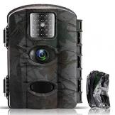 Fantasky Fotocamera da Caccia, Impermeabile IP65, 1080P, 16MP, Fototrappola Infrarossi Invisibili Movimento Attivato 0.5s a Scatto Modalita' Notturna, Camera per la Caccia - 1