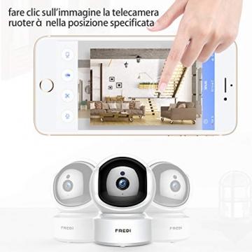 FREDI 1080P HD Telecamera Sorveglianza Wi fi Videocamera sorveglianza Wireless Wifi IP Camera Telecamera wi-fi Interno senza fill Audio Bi-Direzionale Baby Crying Detection Cam Videosorveglianza - 3