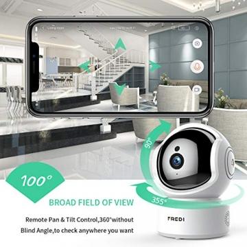 FREDI 1080P HD Telecamera Sorveglianza Wi fi Videocamera sorveglianza Wireless Wifi IP Camera Telecamera wi-fi Interno senza fill Audio Bi-Direzionale Baby Crying Detection Cam Videosorveglianza - 5