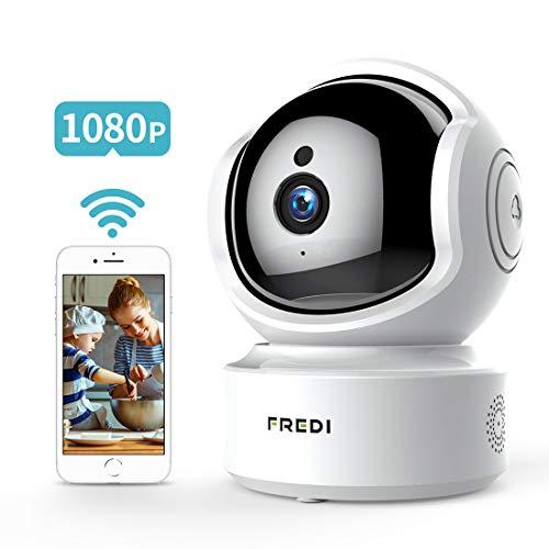 FREDI 1080P HD Telecamera Sorveglianza Wi fi Videocamera sorveglianza Wireless Wifi IP Camera Telecamera wi-fi Interno senza fill Audio Bi-Direzionale Baby Crying Detection Cam Videosorveglianza - 1