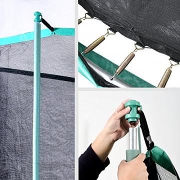 FROGGI - Tappeto elastico da esterno SKY-183 cm, norma CE, colore: Blu - 4