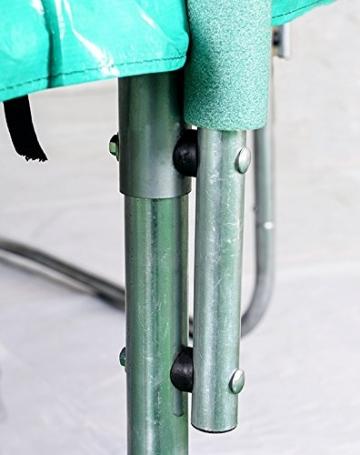 FROGGI - Tappeto elastico da esterno SKY-183 cm, norma CE, colore: Blu - 6
