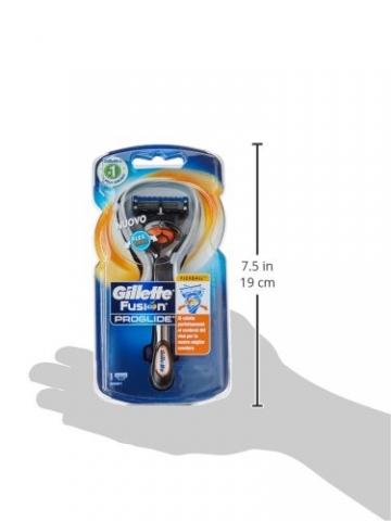 Gillette Fusion Proglide Flexball Rasoio da Uomo, 1 Manico + 1 Lametta, 5 Lame di Precisione, Compatibile con Tutte le Testine di Ricambio Fusion - 9