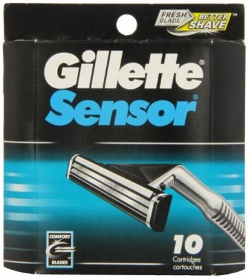Gillette Sensor - Lame per rasoi da uomo–10ricambi - 1