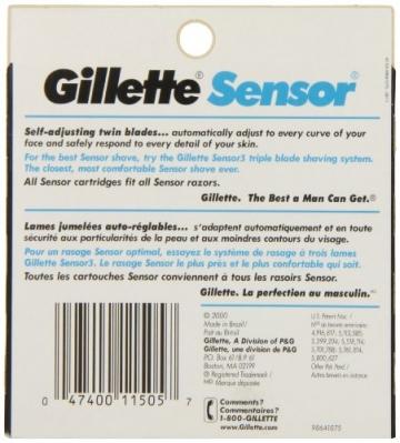 Gillette Sensor - Lame per rasoi da uomo–10ricambi - 2