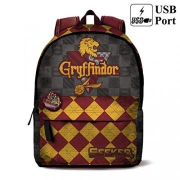 HARRY POTTER HOGWARTS - Zaino scuola e free time Griffyndor - Griffondoro Hogwarts 42 cm - 1