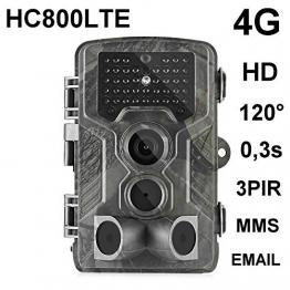 HC-800LTE 4G FOTOTRAPPOLA 16MP Full HD Trail Hunting Camera 42 Nero LED 0,3 Sec Trigger 120° VIDEOCAMERA Fotocamera da Caccia Support 4G 3G 2G gsm MMC SMTP SMS - 1
