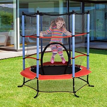 homcom Trampolino Elastico con Rete di Sicurezza Bambini Giardino Diametro 140cm - 2