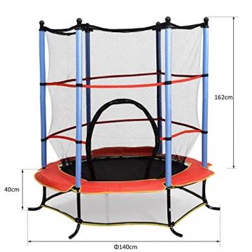 homcom Trampolino Elastico con Rete di Sicurezza Bambini Giardino Diametro 140cm - 3