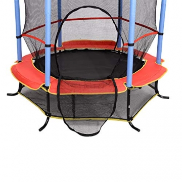 homcom Trampolino Elastico con Rete di Sicurezza Bambini Giardino Diametro 140cm - 4