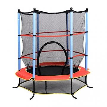 homcom Trampolino Elastico con Rete di Sicurezza Bambini Giardino Diametro 140cm - 1
