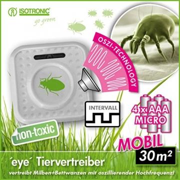 ISOTRONIC® Repellente per Cimici - Contro Le Cimici dei Letti e Acari - Anti-Acaro - Ultrasuoni per allontanare cimici - Alimentato a Batteria - Repellente per Insetti - 2