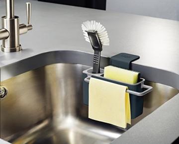 Joseph Joseph Sink Aid Organizer per Lavello della Cucina, Plastica, Grigio - 3