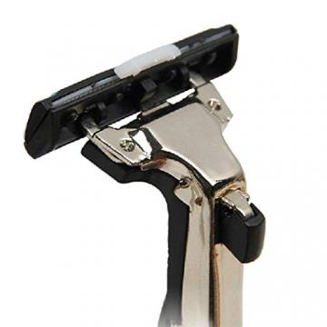 Kaimus Rasoio per rasoio manuale a doppia lama in acciaio inossidabile da uomo Rasoi - 3