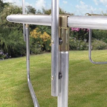 Kinetic Sports Outdoor - Trampolino elastico da giardino, con copertura del bordo e rete di sicurezza, certificato TÜV Rheinland GS - 2