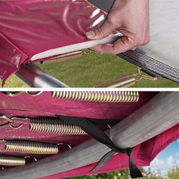 Kinetic Sports Outdoor - Trampolino elastico da giardino, con copertura del bordo e rete di sicurezza, certificato TÜV Rheinland GS - 3