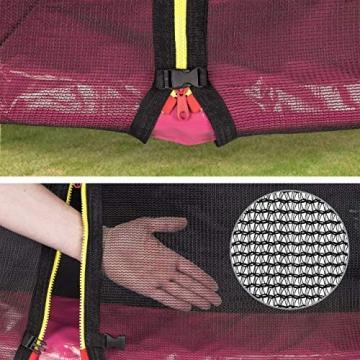 Kinetic Sports Outdoor - Trampolino elastico da giardino, con copertura del bordo e rete di sicurezza, certificato TÜV Rheinland GS - 4