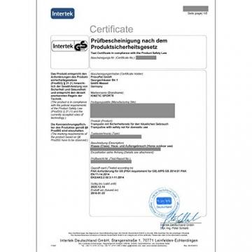Kinetic Sports Outdoor - Trampolino elastico da giardino, con copertura del bordo e rete di sicurezza, certificato TÜV Rheinland GS - 7