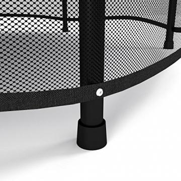 Kinetic Sports Trampolino Bambini Indoor Tappeto Elastico 140 cm, Bordo di Protezione, Sistema a Corda Elastica, Rete di Sicurezza, Blu - 5