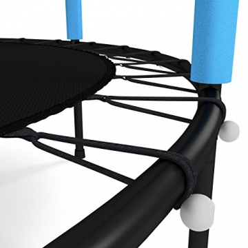 Kinetic Sports Trampolino Bambini Indoor Tappeto Elastico 140 cm, Bordo di Protezione, Sistema a Corda Elastica, Rete di Sicurezza, Blu - 6