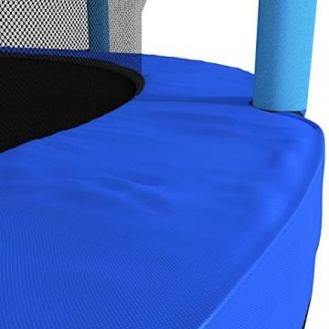 Kinetic Sports Trampolino Bambini Indoor Tappeto Elastico 140 cm, Bordo di Protezione, Sistema a Corda Elastica, Rete di Sicurezza, Blu - 7