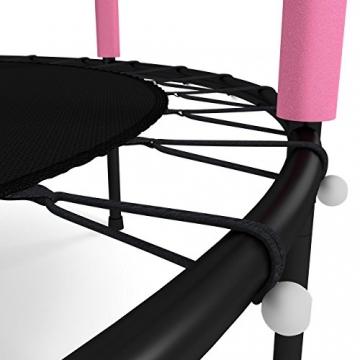 Kinetic Sports Trampolino Bambini Indoor Tappeto Elastico 140 cm, Bordo di Protezione, Sistema a Corda Elastica, Rete di Sicurezza, Rosa - 6