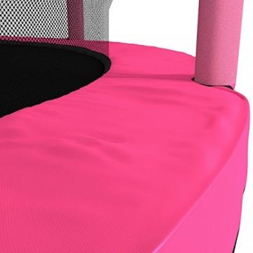 Kinetic Sports Trampolino Bambini Indoor Tappeto Elastico 140 cm, Bordo di Protezione, Sistema a Corda Elastica, Rete di Sicurezza, Rosa - 7