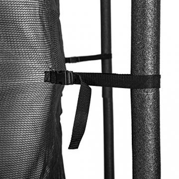Klarfit Rocketboy 430 Tappeto Elastico Trampolino da Giardino (430 CM, Rete di Sicurezza, aste Imbottite, Scala, Telo Antipioggia) Rosa - 8