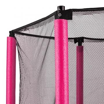 Klarfit Rocketkid trampolino da giardino trampolino per bambini adatto per bambini dai 3 anni diametro 140 centimetri massimo Ccarico: 50 kg rivestimento di bordo imbottito rosa - 6