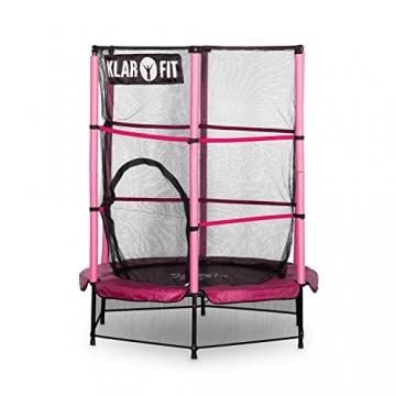 Klarfit Rocketkid trampolino da giardino trampolino per bambini adatto per bambini dai 3 anni diametro 140 centimetri massimo Ccarico: 50 kg rivestimento di bordo imbottito rosa - 9