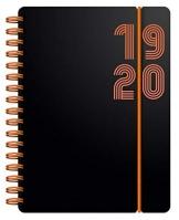 Letts - Agenda scolastica 2019-2020, formato A6, con visualizzazione settimanale, rilegatura a spirale Electric Orange - 1