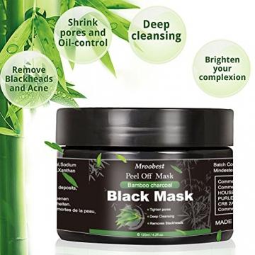 Maschera Nera, Black Mask, Maschera di comedone, Blackhead Remover Black Mask, Facciale Cura Strappando Stile Pulizia Profonda Pulizia Rimozione Di Comedone Maschera (120ML) - 2